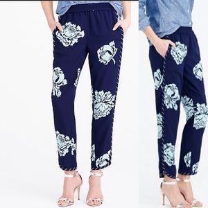 J. Crew navy floral pants Size 4